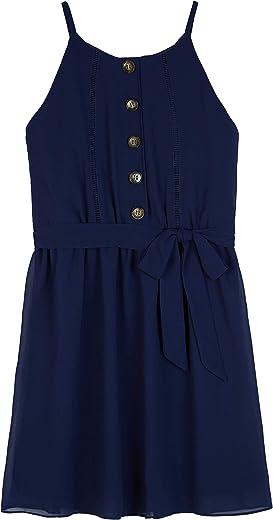 فستان بلوزة علوية بدون أكمام بأزرار أمامية كبيرة للفتيات من Amy Byer