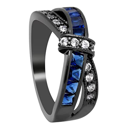 JEWH Wedding Engagement Ring - Cross Finger Ring for Lady - Paved CZ Zircon Luxury Jewelry
