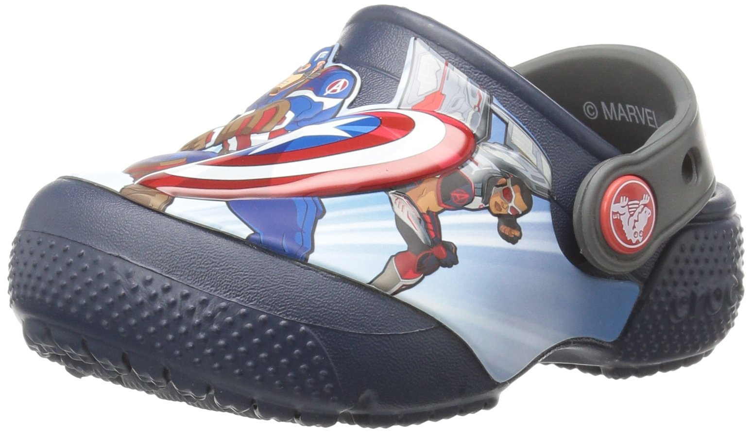 Crocs Boys' FL Avengers Multi K Clog, Navy, 11 M US Little Kid