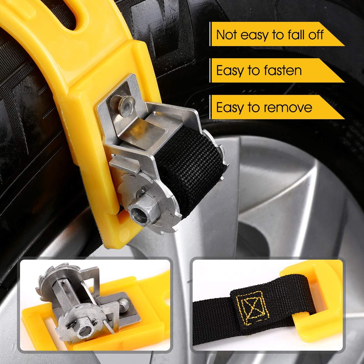 Kit di 6 Catene Anti-Slittamento per Automobile SUV Pick-up Universale Trazione per Qualsiasi Pneumatico con Grandezza Compresa fra 165mm-275mm IREGRO Catena da Neve M1