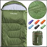 FARLAND Sleeping Bags 20℉ for Adults Teens Kids with Compression Sack Portable and Lightweight for 3-4 Season Camping…