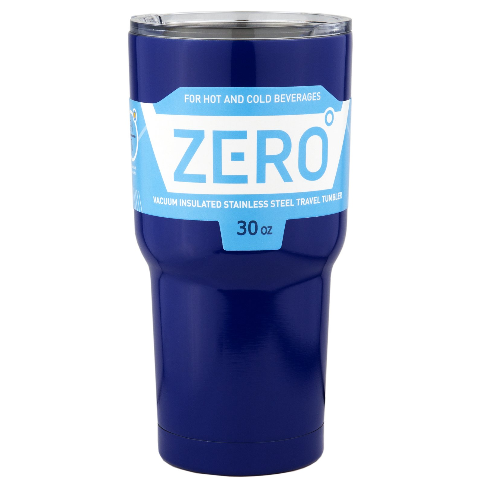 Stainless Steel Tumbler with Lid, Double Wall Vacuum Insulated Travel Mug for Hot and Cold Drink by Zero Degree (30oz Blue)