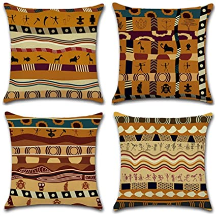 Cuscini Etnici Vendita.Gspirit Federe Stile Etnico Africano 4 Pack Cuscini Per Divani