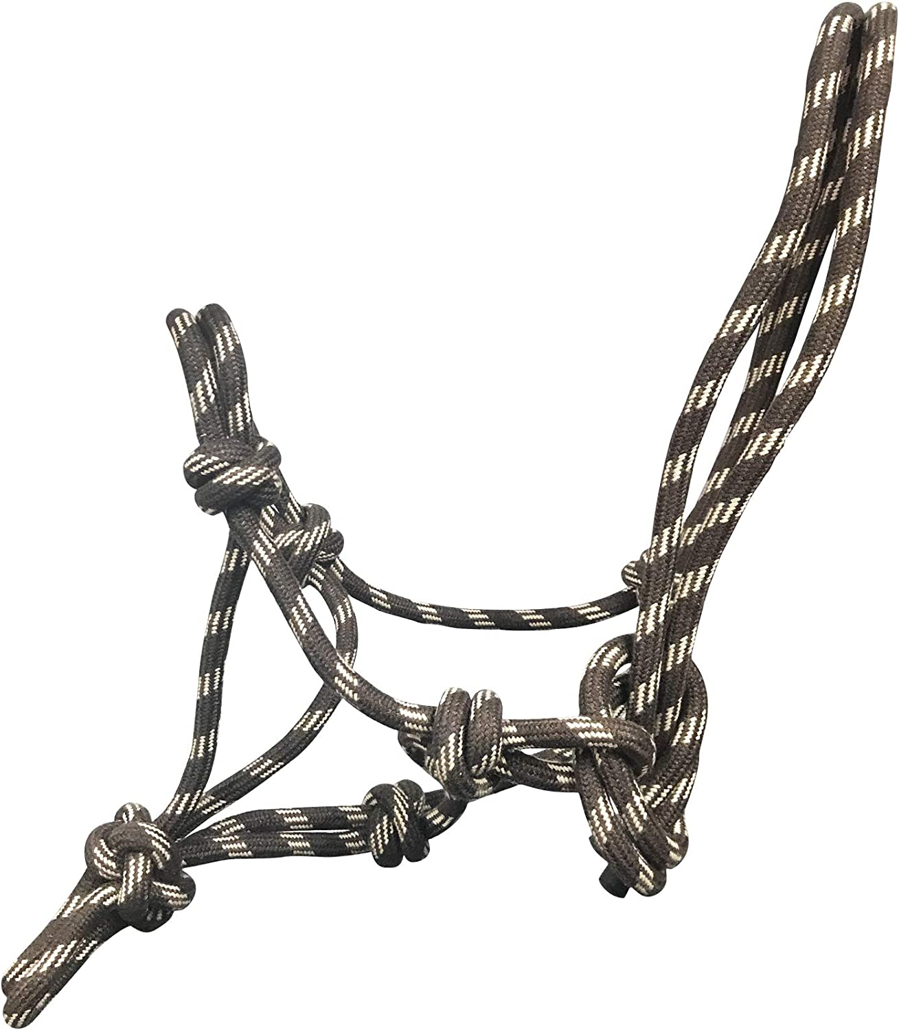 Beige tigerbox Acrylic Colourful Knotted Adjustable Rope Horse Halter Brown