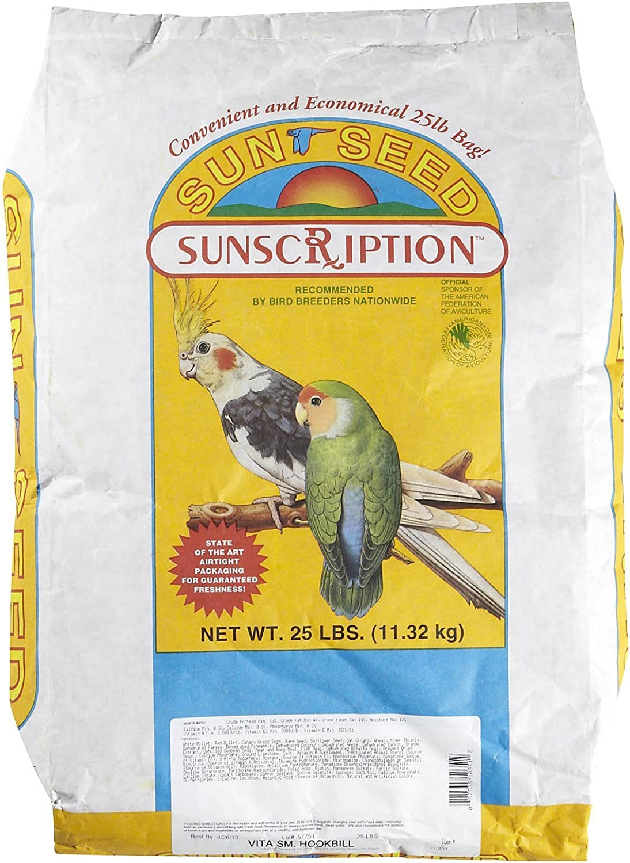 Sun Seed Company Bss10351 Vita Mix Daily Diets Small Hookbill Food, 25-Pound