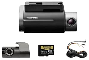 THINKWARE TW-F750D16 F750 2-Channel Dash Cam, 1080P HD Front & Rear, Sony Exmor Sensor, Wi-Fi, Dual Save Technology, Parking Mode, GPS, 16GB SD Card