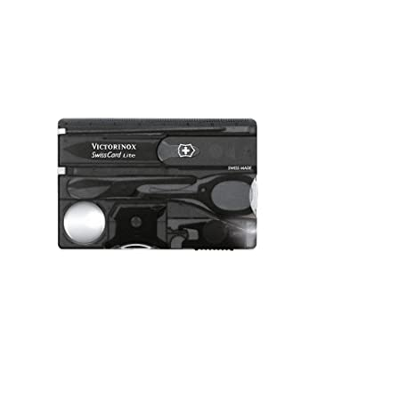 Victorinox Swisscard Lite - Navaja multiusos formato tarjeta, con luz LED, 4,5 x 82 mm, 26 g, color negro