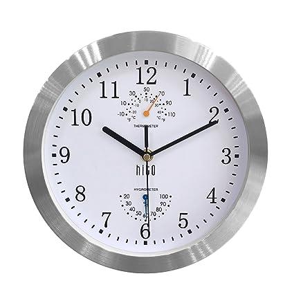 Amazon.com: hito Modern Silent Wall Clock Non ticking 10 inch