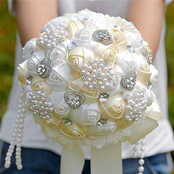 Amazon Com Kuki Shop Handmade Classic Satin Roses And Pearls