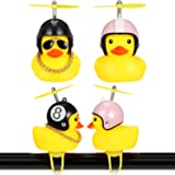 Sumind 2 Pieces Duck Bike Bell Rubber Duck Bicycle Accessories Cartoon Duck Head Light Duck Bicycle Horn with Bike Light…