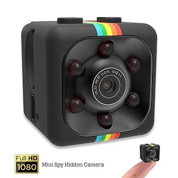 Videocámara HD Night Vision Mini – Cámara espía con cámara oculta Mini Spy de seguridad con