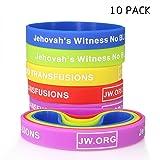 JW.org No Blood Medical Alert Flexible Silicone