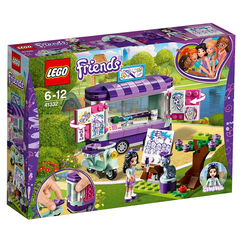 LEGO 41332 Friends Heartlake Emma's Art Stand Trailer Playset, Build and Play Fun Toys for Kids