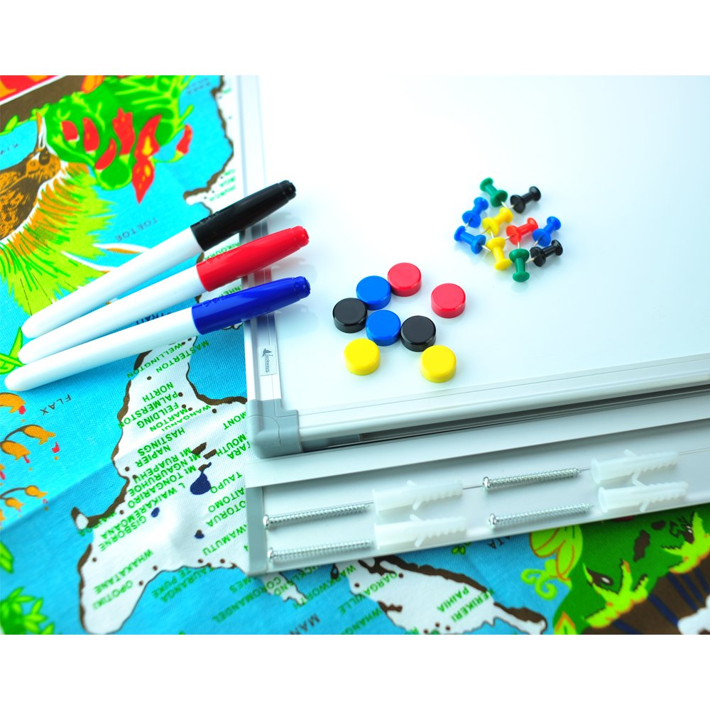 80a4bc19d7f Lockways Dry Erase Board   Cork Bulletin Board Combination - 48 x 36 Inch  Magnetic Whiteboard   Corkboard