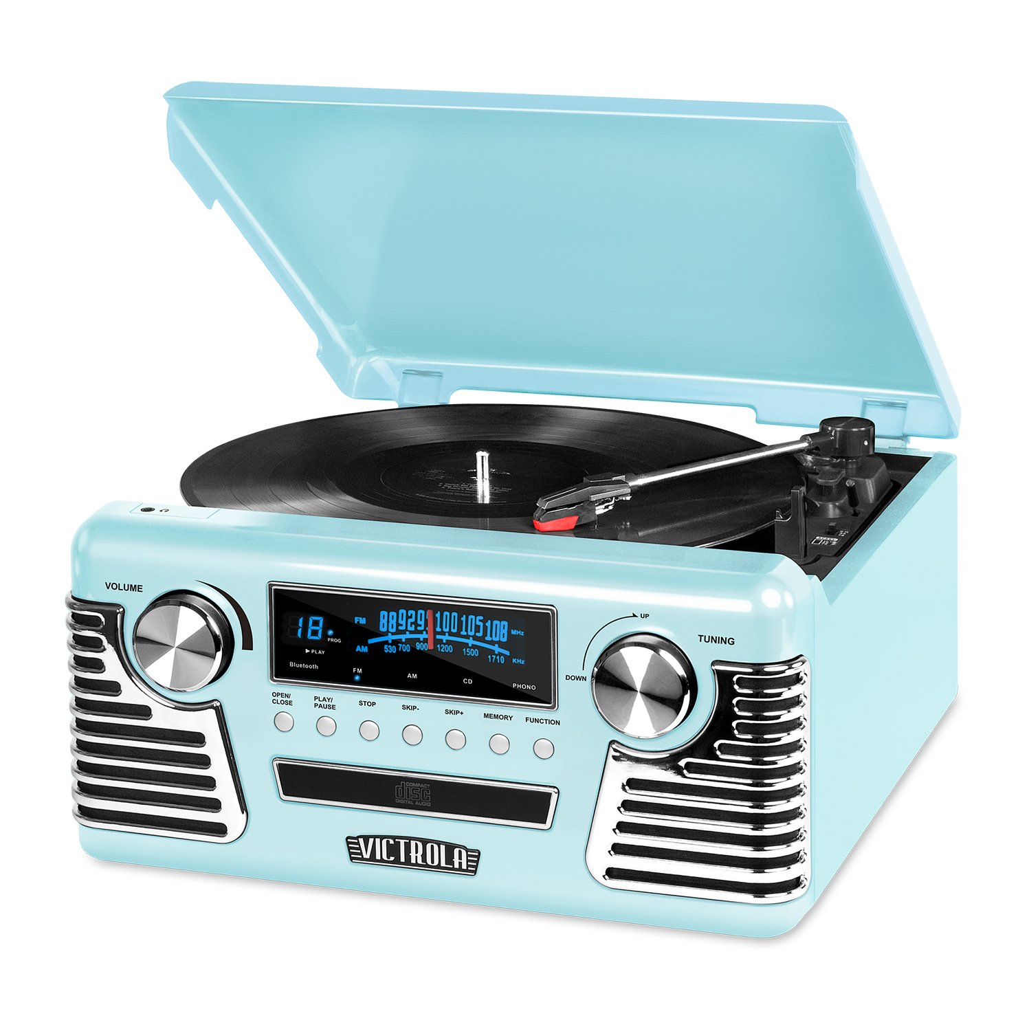 Victrola Retro Record Player with Bluetooth and 3-Speed Turntable