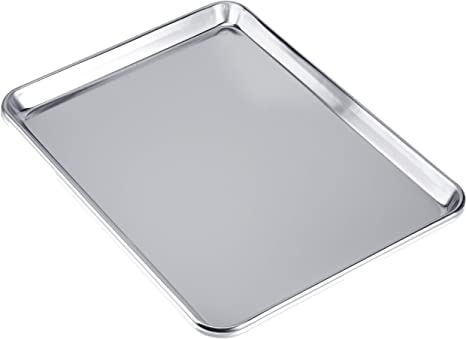 Amazon Com Love Homemaster Heavy Duty Pure Aluminum Half Sheet Pan Cookie Sheet Baking Pan 18 X 13 X 1 Kitchen Dining