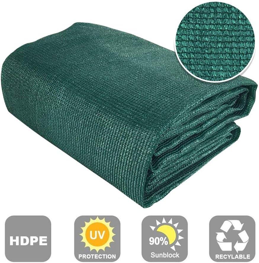 Shatex 90 Sun Shade Fabric for Pergola Cover Porch Vertical Screen 7.8 x 15 , Dark Green
