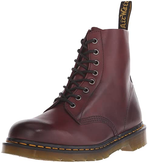 Amazon.com | Dr.Martens Pascal 8-Eyelet Cherry Red Mens Boots Size 9.5 UK | Boots