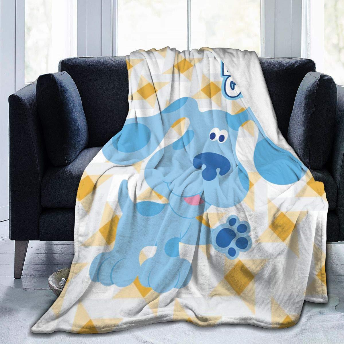 "SuperLee Children's Blue's Clues Dog Flannel Blanket Warm Throw Blanket 50"""" x40 Large Soft Blanket"