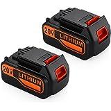 Powerextra 2 Pack 20V MAX 4.5Ah Replacement Battery for Black & Decker LBXR20 LBXR20-OPE LB20 LBX20 LBX4020 LB2X4020-OPE black and decker lbxr20