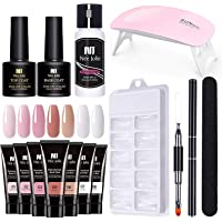 Gel Nail Extension Kit, Free Paper Holder Extension Crystal Gel Kit, with 1 X Nail File, 1 X Brush, 1 X Cleaner, 1 X…