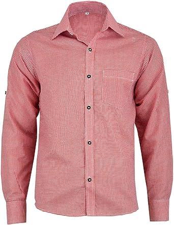 RIDEX Oktoberfest Lederhosen Trachten - Camisa de Cuadros para Hombre, Color Rojo: Amazon.es: Ropa y accesorios