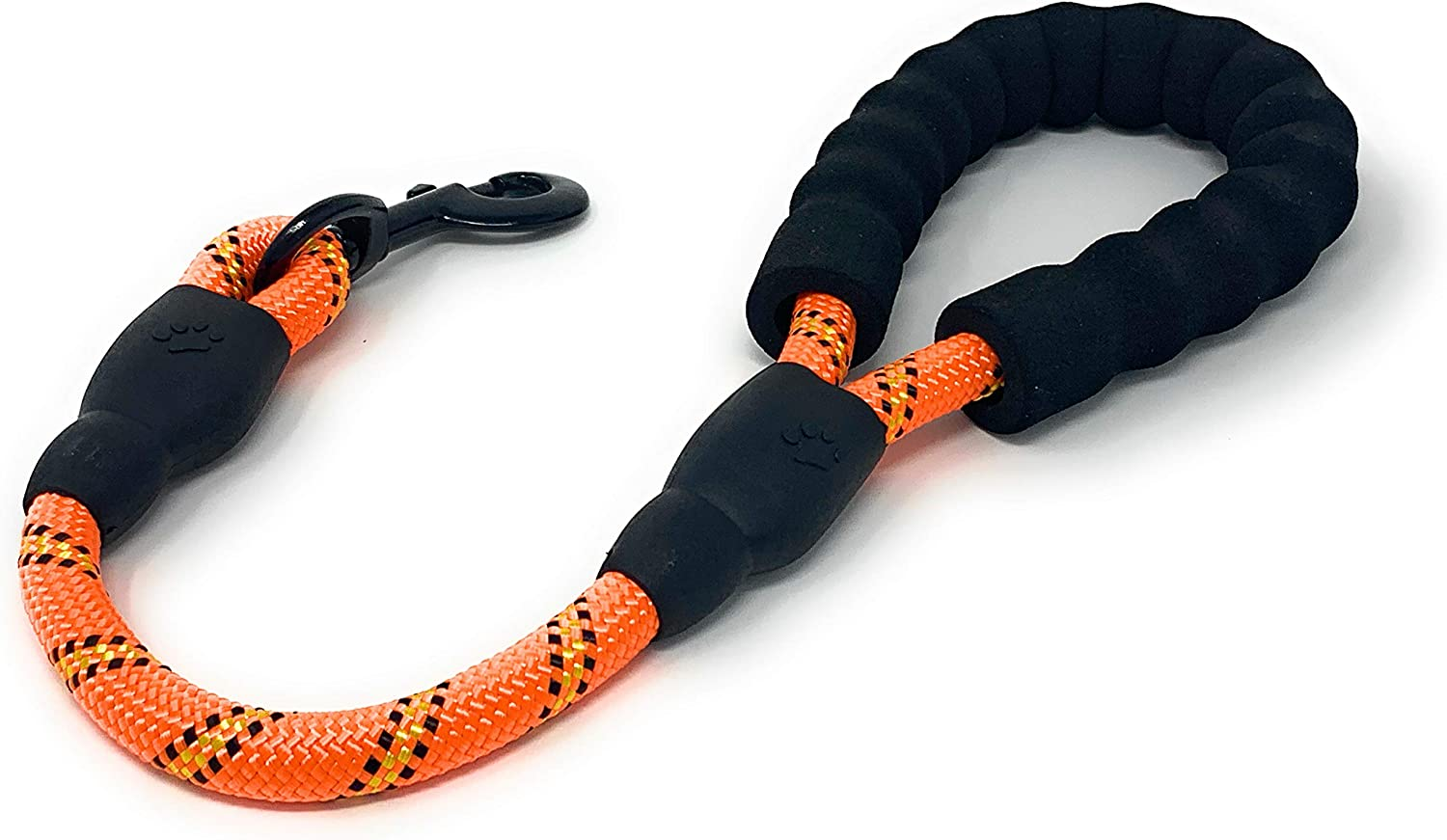 STJ Company Short Training Traffic Leash for Dogs l Teach Them to Walk Without Pulling l 18 Inch Rock Climbing Rope with Swivel Metal Snap-Bolt l Take Your Pup Near Crowds