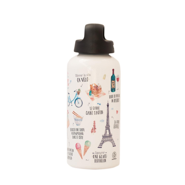 Lovely Streets - Botella de Aluminio, diseño Paris WOA03108