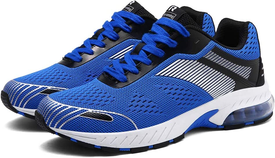 XIDISO Mens Womens Sneakers Breathable Lightweight Athletic Walking Shoe Running Shoes for Men Blue