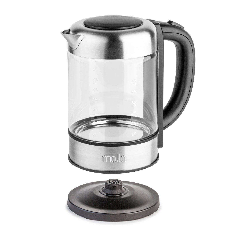 Molla Púro Electric Water Kettle, Ultra Premium SCHOTT Glass B017AEFT3G