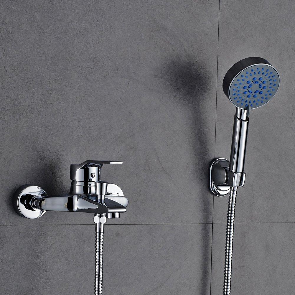 v/álvula de cer/ámica de 40 mm AuraLum KalamoQYL1019#NVT612 Sistema de ducha cl/ásico con alcachofa de mano y grifo con funci/ón de 3 funciones