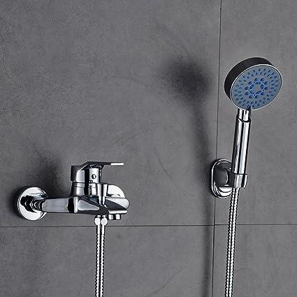 AuraLum KalamoQYL1019#NVT612 - Sistema de ducha clásico con alcachofa de mano y grifo con