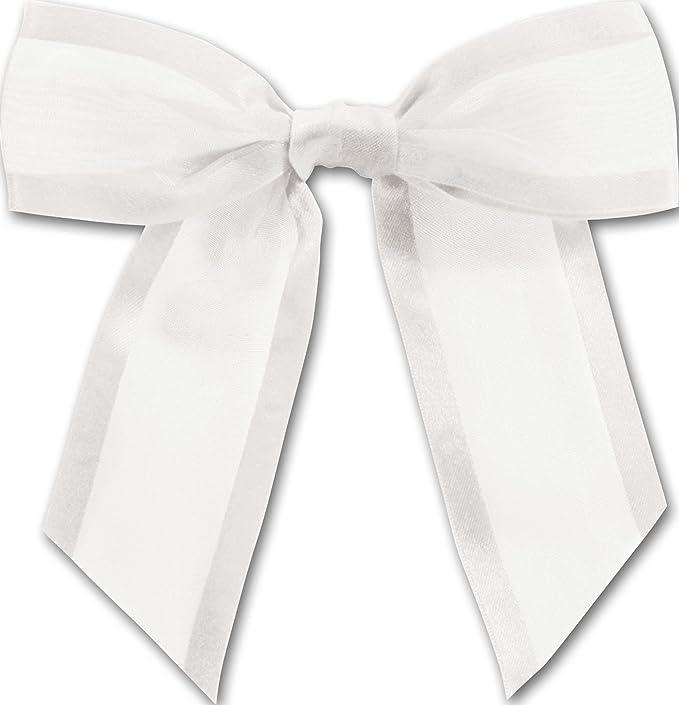 """6 Red Sheer 4-1//2/"""" Bows Organza Satin Edge Ribbon Christmas Holiday Crafts Gifts"""