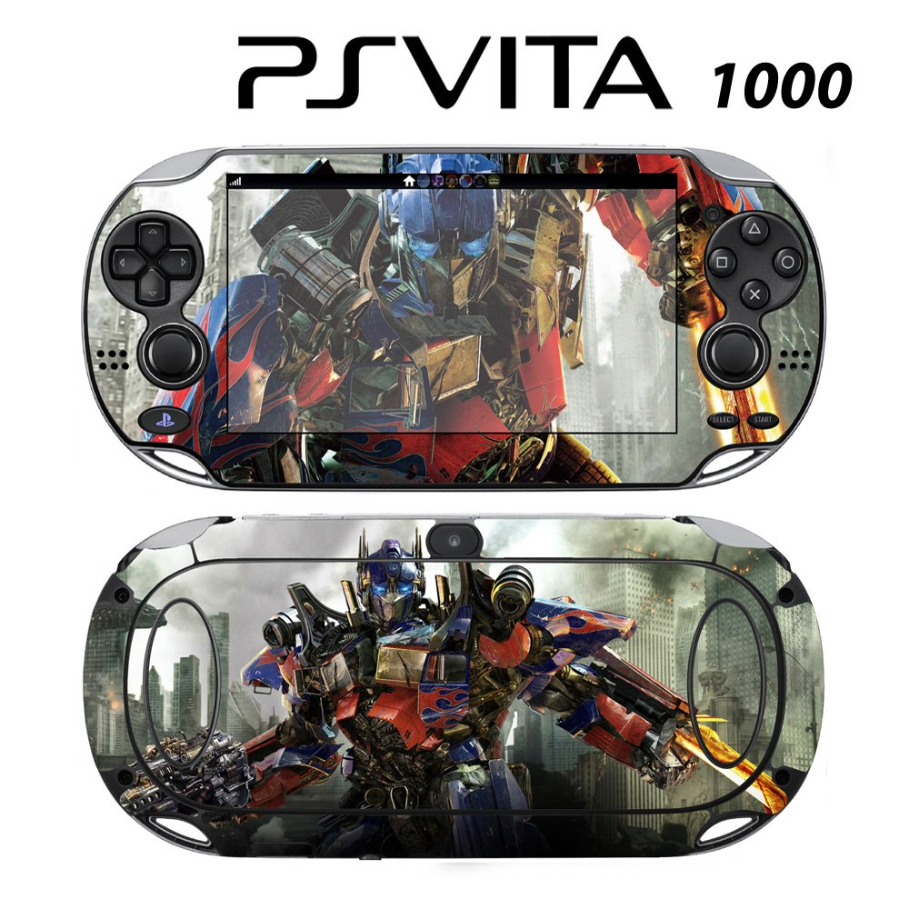 Decorative Video Game Skin Decal Cover Sticker for Sony PlayStation PS Vita (PCH-1000) - Transformers Optimus Prime Autobots