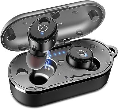 Auriculares inalámbricos Bluetooth 5.0 Micrófono incorporado Reducción de ruido Estéreo 3D Adecuado para Apple Airpods / iPhone Estuche de carga portátil Auriculares deportivos impermeables: Amazon.es: Electrónica