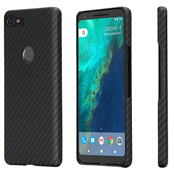 sports shoes b78ca de7db PITAKA Google Pixel 2 Case, Magcase Aramid Fiber[Real Body Armor Material]  Phone Case,Slim fit Strongest Durable Snugly Fit Snap-on Phone Cover Case  ...