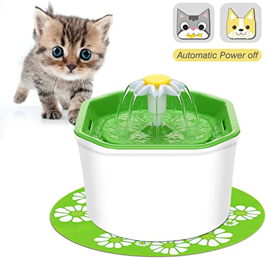 VITCOCO Bebedero Gatos, Apagar automáticamente Fuente de Agua para ...