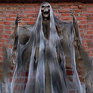 70In Halloween Ghost Decorations Scary Props Life Size Hanging Skeleton  Flying Ghost Decor for Yard Outdoor - Amazon.com : 70In Halloween Ghost Decorations Scary Props Life Size