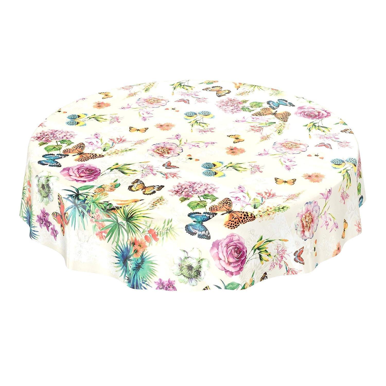 Hule, mantel lavable con diseño de mariposas y flores, color beige, tamaño a elegir, toalla, Mit Muster, 100 x 140cm: Amazon.es: Hogar