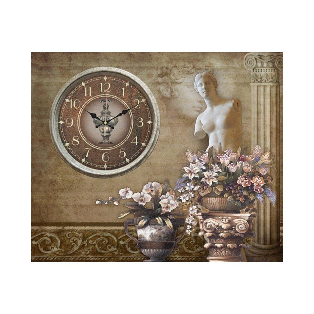 GDXRB ウォールクロック絵画時計の風景美しさガラスウォールクロックアートクロックサイレントノンティッキング時計居間のための家の装飾ベッドルームスイッチオクルージョン絵画/フリップカバーメーターボックス装飾絵画 (パターン : C) B07DCXZGWD C