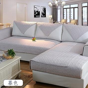 AMYSTOREDREAM Engrosamiento algodón Tela sofá Toalla Cubre Sofa slipcover esteras para 1 2 3 4 Cojines en Cubierta de Sala Completa-H ...
