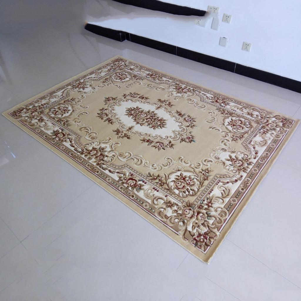 X&Y Three-dimensional Cut flowers living room bedroom coffee table Hotel corridor hall carpet Mats , 160230cm , camel