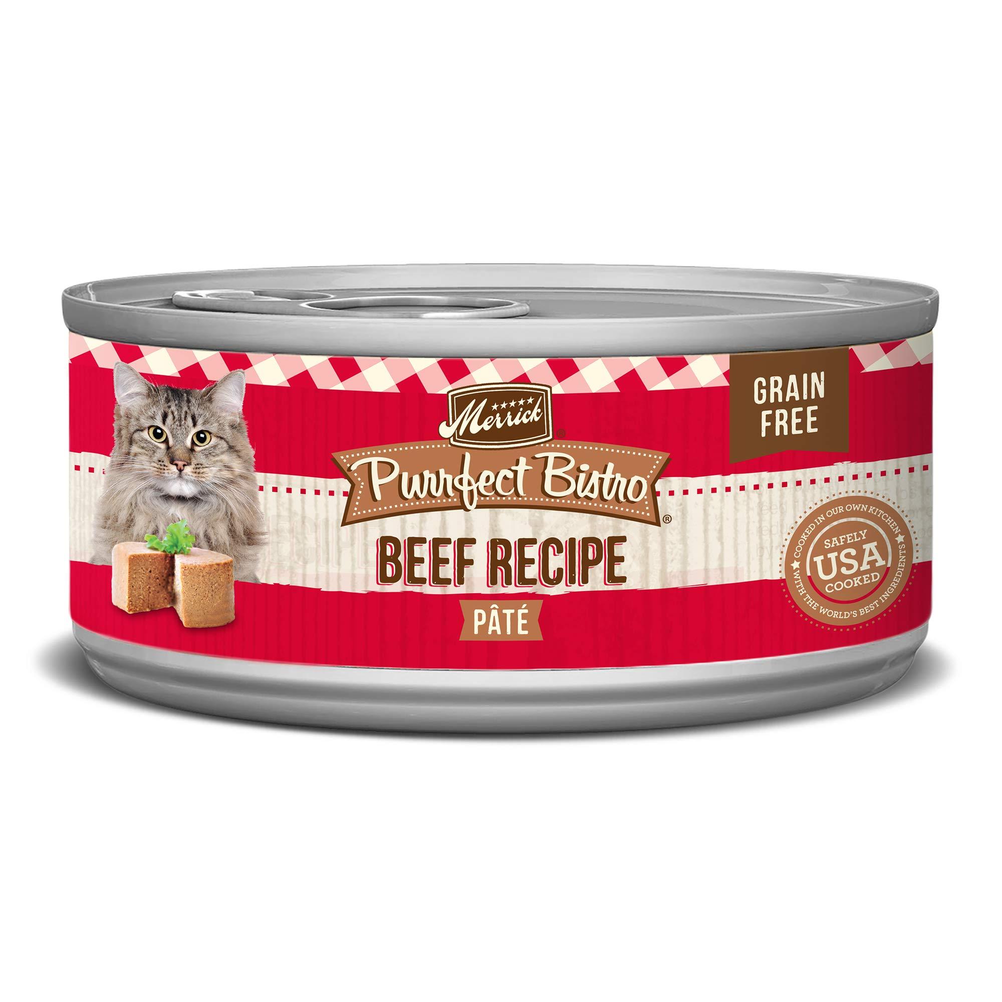 Merrick Purrfect Bistro Grain Free, 5.5 oz, Beef Pate - Pack of 24  by Merrick