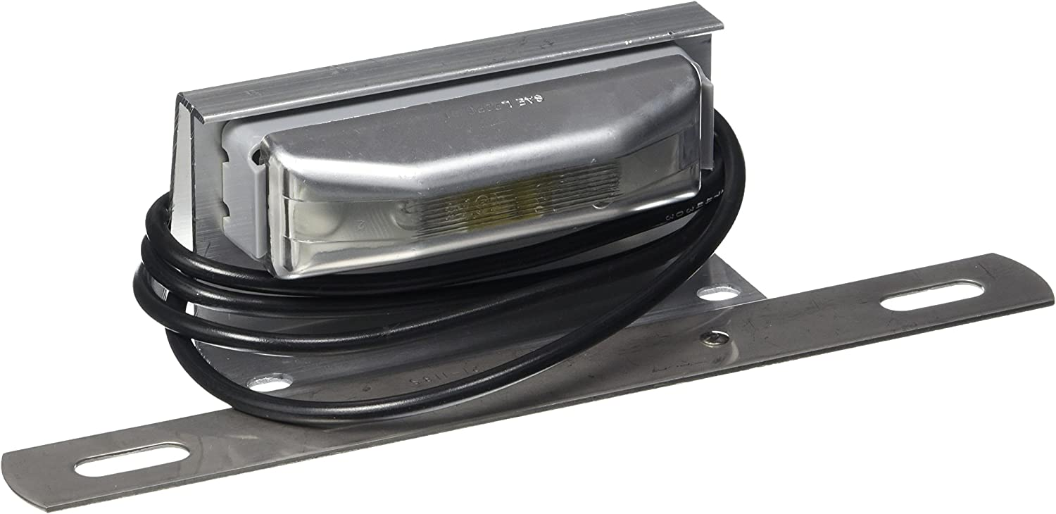 Grote 60321 Rectangular License Light with Bracket Stainless Steel Bracket