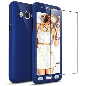 44def57ffdc Ukayfe - Funda para Samsung Galaxy J3 2016 360 grados + Protector de  cristal templado, lujosa funda ...