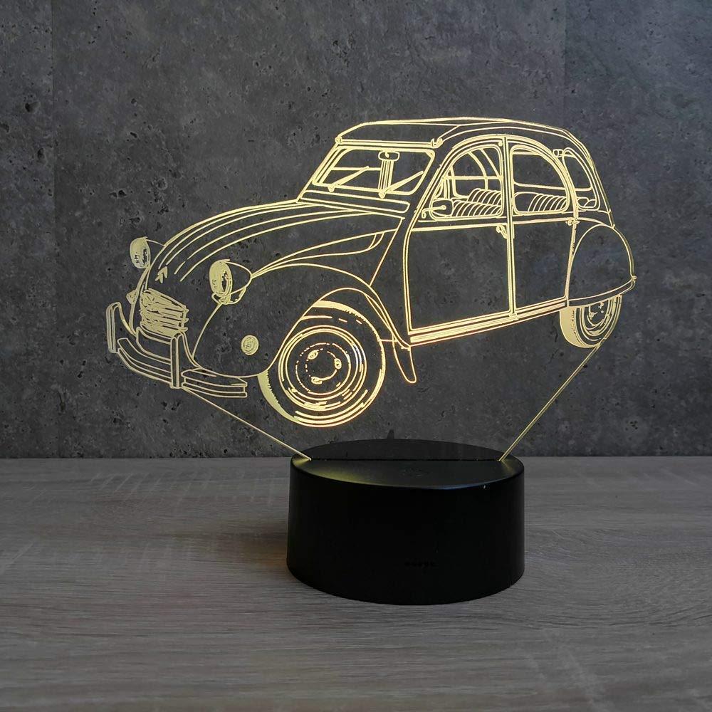 Lampe 2CV Citroën personnalisable - Fabriquée en France - Lampe de table - Lampe veilleuse - Lampe d'ambiance