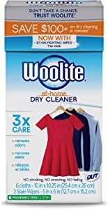 Woolite at Home Dry Cleaner, Fragrance Free, 2 Pack, 12 Cloths