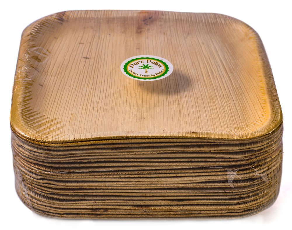 Amazon.com Pure Palm Planet Friendly Plates; Upscale Disposable Dinnerware; All-Natural Compostable Plateware (10  Square) (25 pack) Kitchen u0026 Dining  sc 1 st  Amazon.com & Amazon.com: Pure Palm Planet Friendly Plates; Upscale Disposable ...