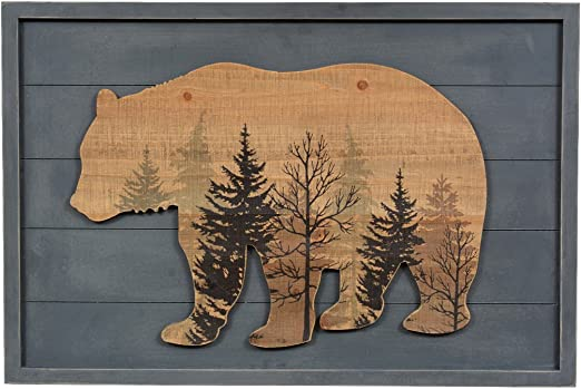 1-Pc Deer in Birch Trees Bathroom Rug Rustic Lodge Log Cabin Home Decor