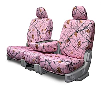 Custom Fit Seats Covers - Toyota Rav 4 Low Back Seats - Pink Camouflage Fabric
